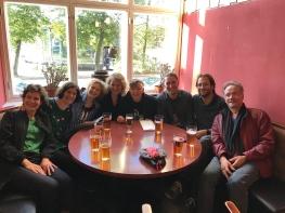 The team of the professorship! From left to right: Marloeke van der Vlugt, Debbie Straver, Daniela Moosman, Marieke Nooren, Henny Dörr, Joris Weijdom, Falk Hübner and Nirav Christophe.