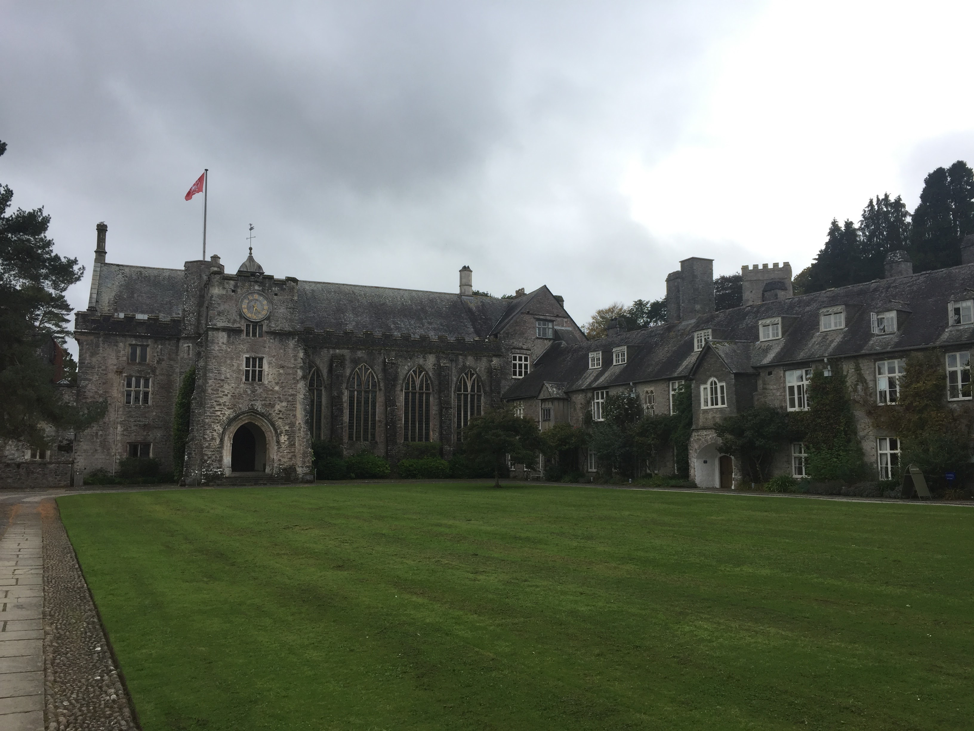 The wonderful main courtyard of Dartington Hall, where the seminar tool place.